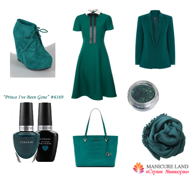 Темно-бирюзовый гель-лак и лак для ногтей, модные цвета весна-лето 2016